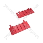 Drive over cable covers - 3 Channel End Caps Pair - EC-3BR920