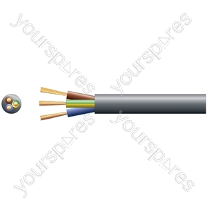 2183Y 3 Core Round PVC, 300/300V, HO3VV-F3, 6A - mains x 24/0.2mm, 6A, 6.1mm, Black, 100m
