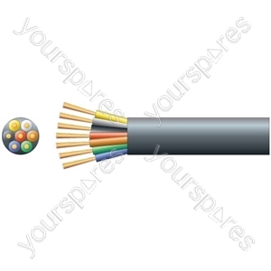 Lighting/Trailer Cable Round 7 Core - Bare Copper - Cable, x (22 x 0.2mmØ)