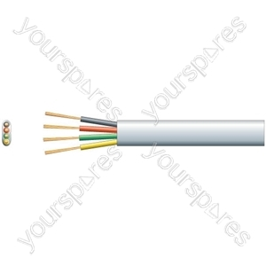 Flat Profile Telephone/Data Cable - Pure Copper - 4 core Tel/Data Cable, 4 x (7 x 0.15mmØ)