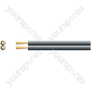 Speaker Cable High Quality Figure 8 - OFC - Cable, 2 x (79 x 0.15mmØ), Black, 100m