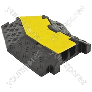 2 Channel Cable Guard Corner Sections - Right 45° - CGIIR