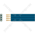 Flat Profile Speaker Cable - Pure Copper - cable, 4 x (89 x 0.12mmØ)