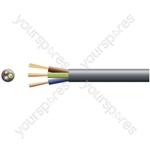 2183Y 3 Core Round PVC, 300/300V, HO3VV-F3, 3A - mains x 16/0.2mm, 3A, 5.6mmØ, Black, 100m