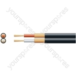 Standard 2 Core Figure 8 Individual Lap Screened Cables - screen, x 18/0.1mm, x 51/0.1mm, Black, 100m