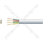 4 core Flat Tel/Data Cable, 4 x (7 x 0.15mmØ)