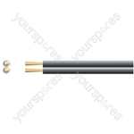 Economy Fig 8 Speaker Cable - Cable, 2 x (79 x 0.2mmØ)