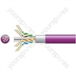 Cat6 F/UTP Lszh Network Cable - 305m Lilac