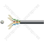 Economy Outdoor U/UTP Network Cable - 305m black