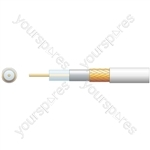 Economy RG6 75 Ohms Air Spaced Coaxial Cable - CCA Braid - PE with 100m White