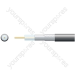 Eco RG6 Air Spaced PE Coaxial Cable with Aluminum Braid - 100m White