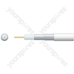 Economy RG6 75 Ohms Air Spaced Coaxial Cable - Aluminium Braid - PE with Aluminum 100m White
