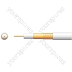 100U Foamed PE Coaxial Cable with CCA Braid - 100m Black