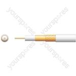 100U 75 Ohms Foam Filled Coaxial Cable - CCA Braid - Foamed PE with 250m White