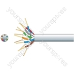 Economy Telephone Cable - 6 Pairs CCS White 100m