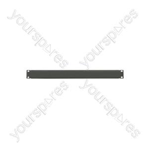 """19"""" blanking plate, 4U, blank, black"""