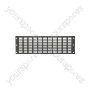 """19"""" Blanking Panels - plate, 4U, vented, black"""