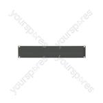 "19"" Blanking Panels - plate, 2U, blank, black"