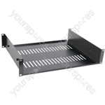 "19"" Support Shelf 2U - shelf, 2U, black finish"