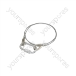 Cabinet accessories - Steel safety cable, length 800mm, 2mmØ