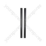 Speaker Poles (Pair) 750mm x 35mm  Black