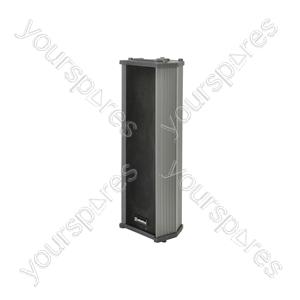 Heavy duty column speaker, 100V line, 15W rms