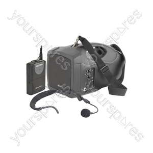 H25 Handheld PA System with Neckband Mic - headmic