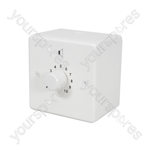 100V volume control, relay fitted, 12W