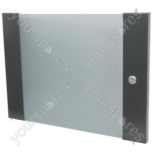 Lockable toughened glass door - 12U