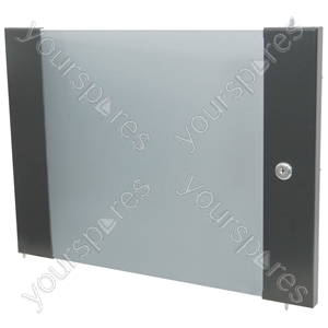 Lockable Toughened Glass Doors - - 12U