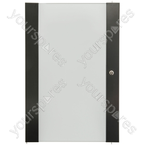 Lockable Toughened Glass Doors - - 28U