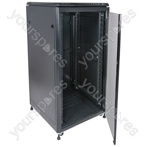 "19"" Data cabinet flat packed, 36U"