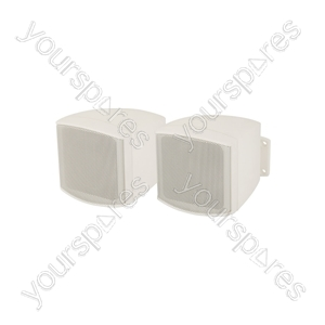 "Compact Background Speakers 2.5"" White - C25VW 2.5inch Loudspeakers Pair - C25V-W"