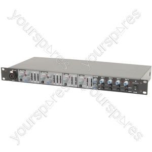 Multi-purpose 1U Mixer - Z44R live/zone with DSP reverb rack