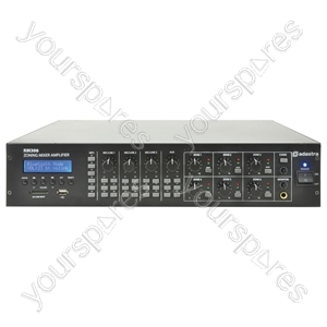 RM306 6-zone mixer-amplifier + USB/SD/FM/Bluetooth®