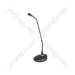 Conference/paging microphone with LED collar