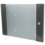 Lockable Toughened Glass Doors - - 12U