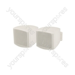 Pair C25V-W compact background speakers - white