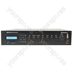 5 Channel 100V Line Mixer Amplifier with CD/USB/SD/FM - RMC120 mixer-amp 120W