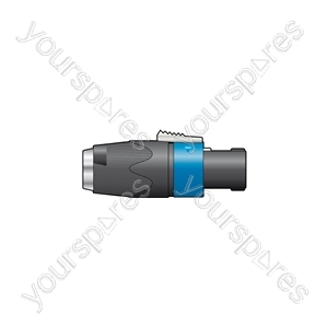 NEUTRIK® NA4LJX 4-pin, speakon to 6.3mm mono jack adaptor
