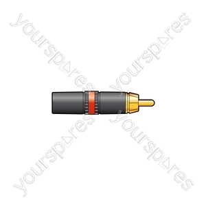 Neutrik® NYS373-2/-9 - NYS373-2, RCA phono plug red ID band