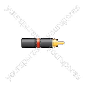 NEUTRIK® NYS373-2, RCA phono plug - red ID band