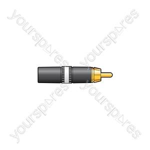 Neutrik® NYS373-2/-9 - NYS373-9, RCA phono plug White ID band