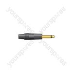 Neutrik® NP2XN - NP2XB, 6.3mm mono plug - black - NP2C/B
