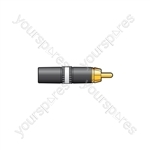 Neutrik® NYS373-2/-9 - NYS373-9, RCA phono plug White ID band
