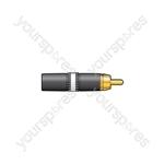 Neutrik® NYS373-2/-9 Professional Phono Plugs - NYS373-9, RCA White ID band