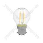 Golfball Filament Lamp 2W LED E14 WW