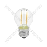 LED Golfball Filament Lamp - 2W LED - E27 WW