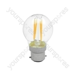 Golfball Filament Lamp 4W LED E27 WW
