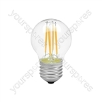 LED Golfball Filament Lamp - 4W LED - E27 WW